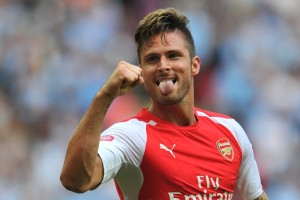 Arsenal striker Olivier Giroud has now scored in each of his last six league appearances.